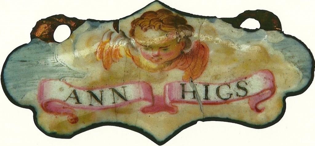 Ann Higs enamel token