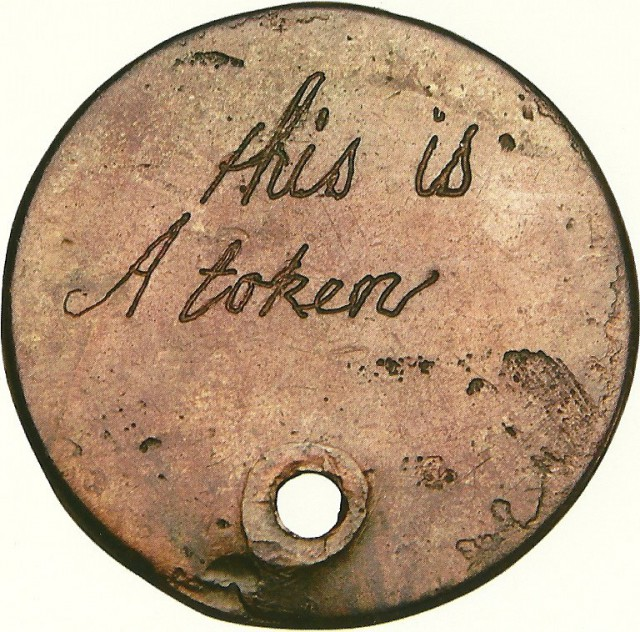 inscribed copper token