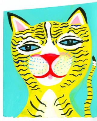 Tiger portrait low res