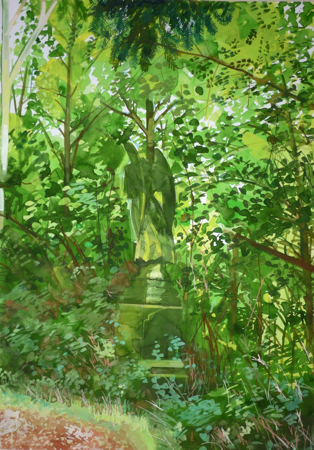 Angel at abandoned cemetery Barnes Common
