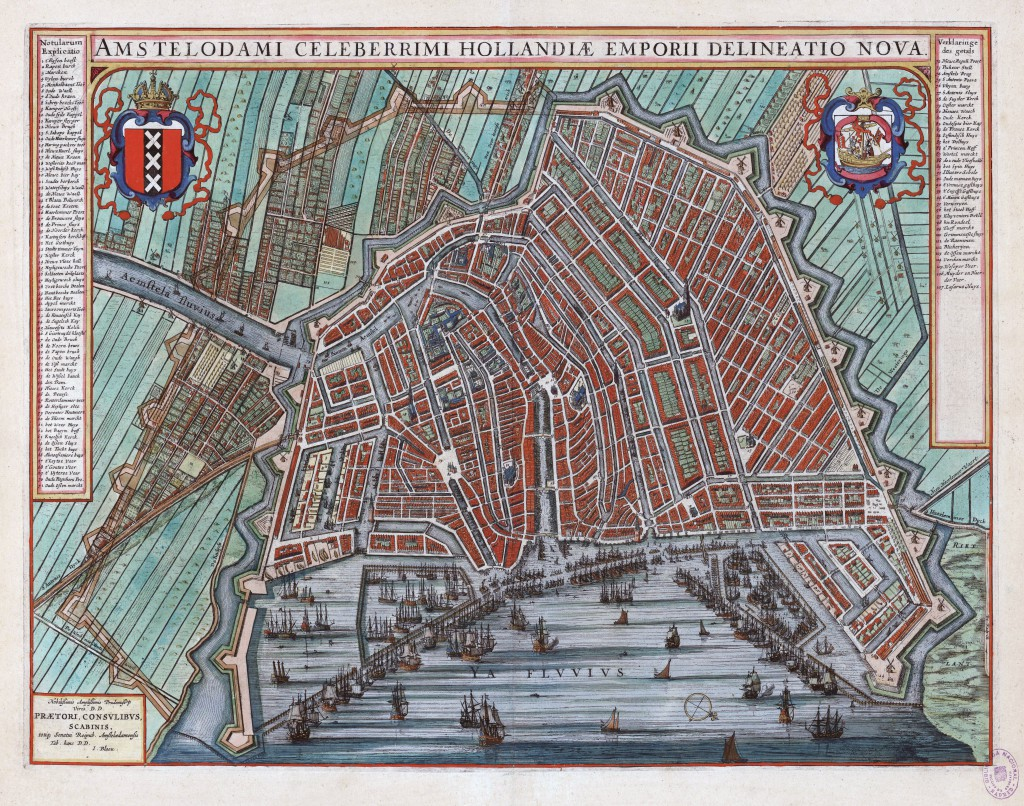Joan Blaeu - map of Amsterdam