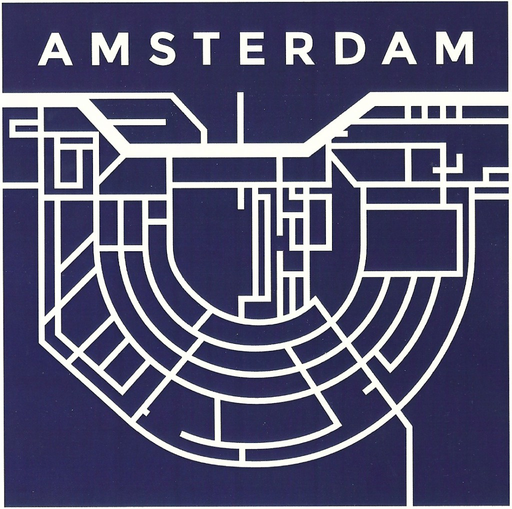 schematische waterkaart amsterdam