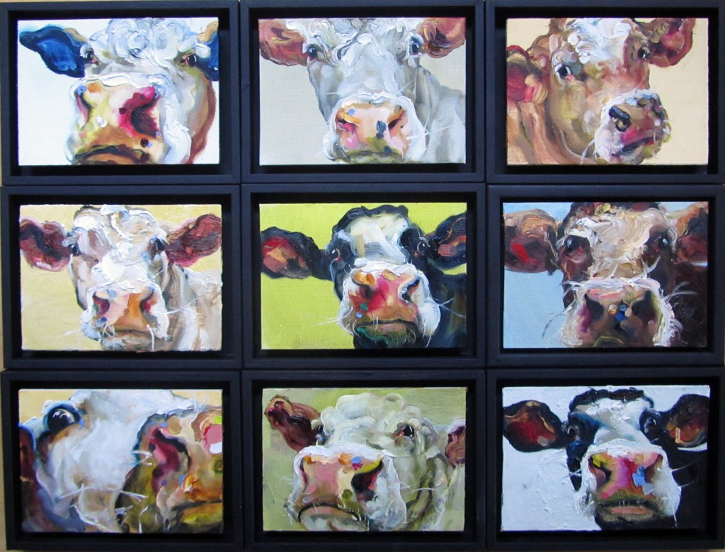 nine cows