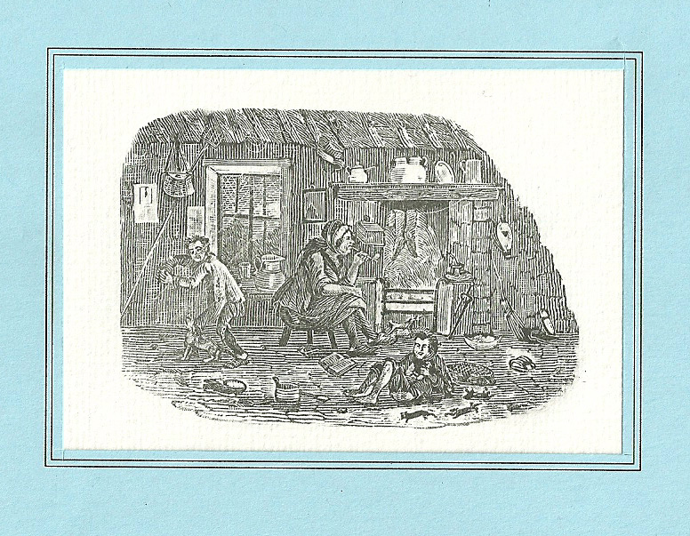 scan0008 Iain Bain, Rural Domestic Life, printed from the woodblock tail-piece for Thomas Bewick's unpublished History of British Fishes