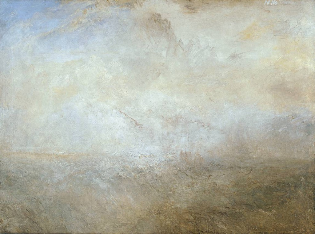 Seascape with Distant Coast circa 1840 by Joseph Mallord William Turner 1775-1851