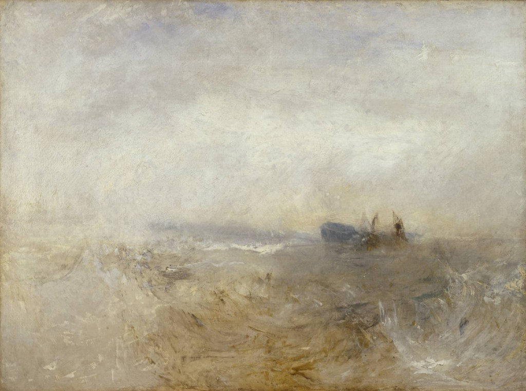 A Wreck, with Fishing Boats c.1840-5 by Joseph Mallord William Turner 1775-1851