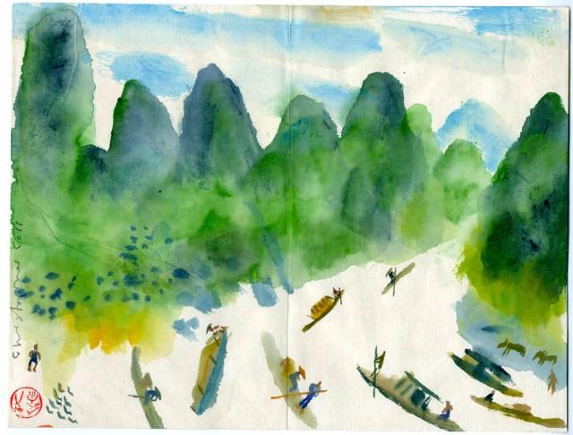 Li River and hills