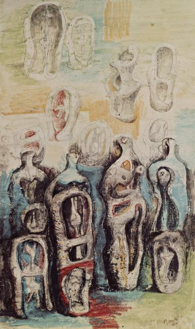 Henry Moore Standing Figures