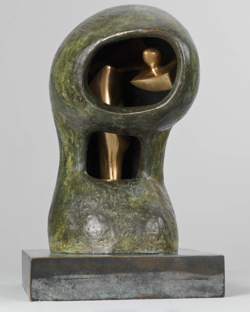Helmet Head No 4: Interior - Exterior 1963 by Henry Moore OM, CH 1898-1986