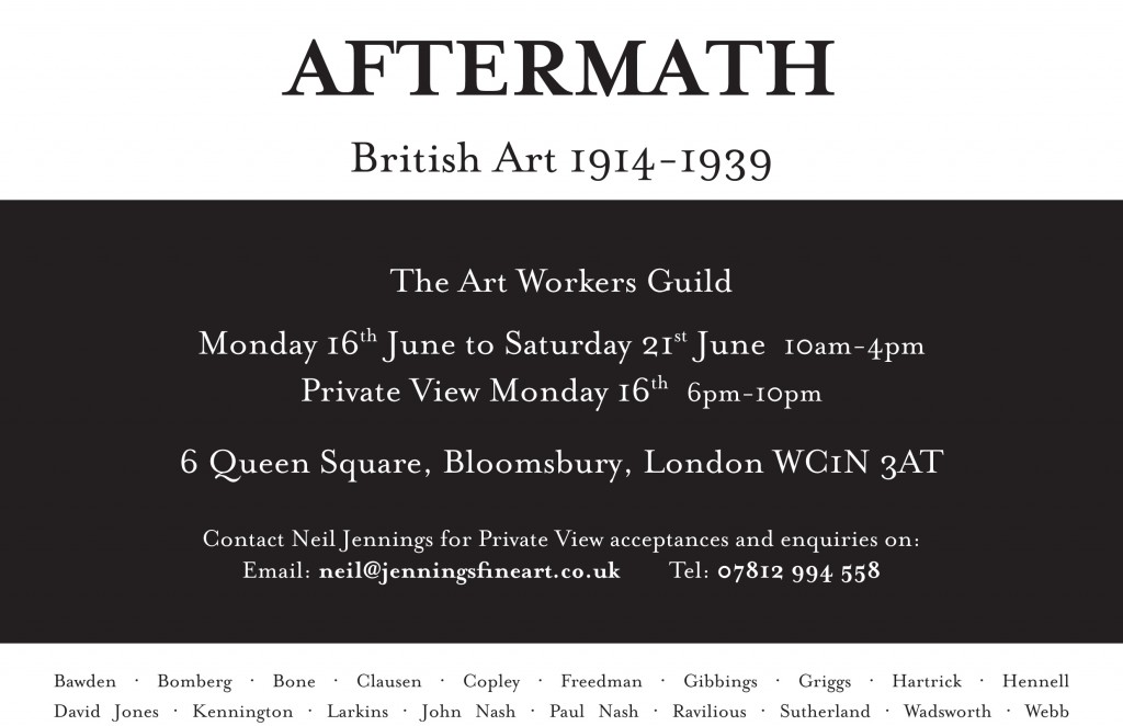 AFTERMATH MPD017144 A5 Leaflet - British 1914-1939 Neil Jennings - Client Artwork
