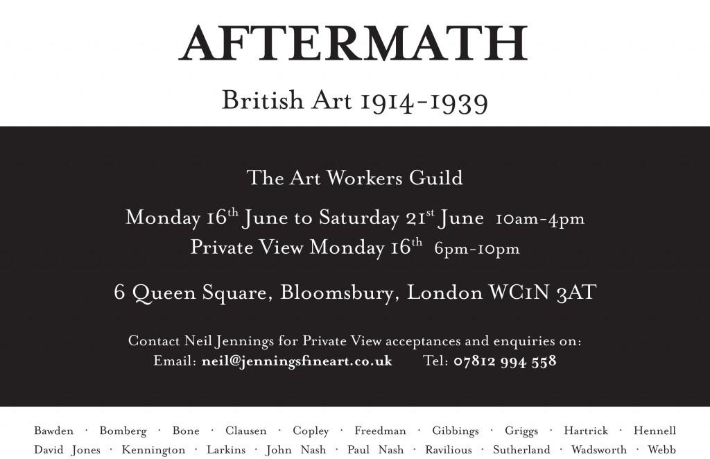 AFTERMATH MPD017144 A5 Leaflet - British 1914-1939 Neil Jennings - Client Artwork