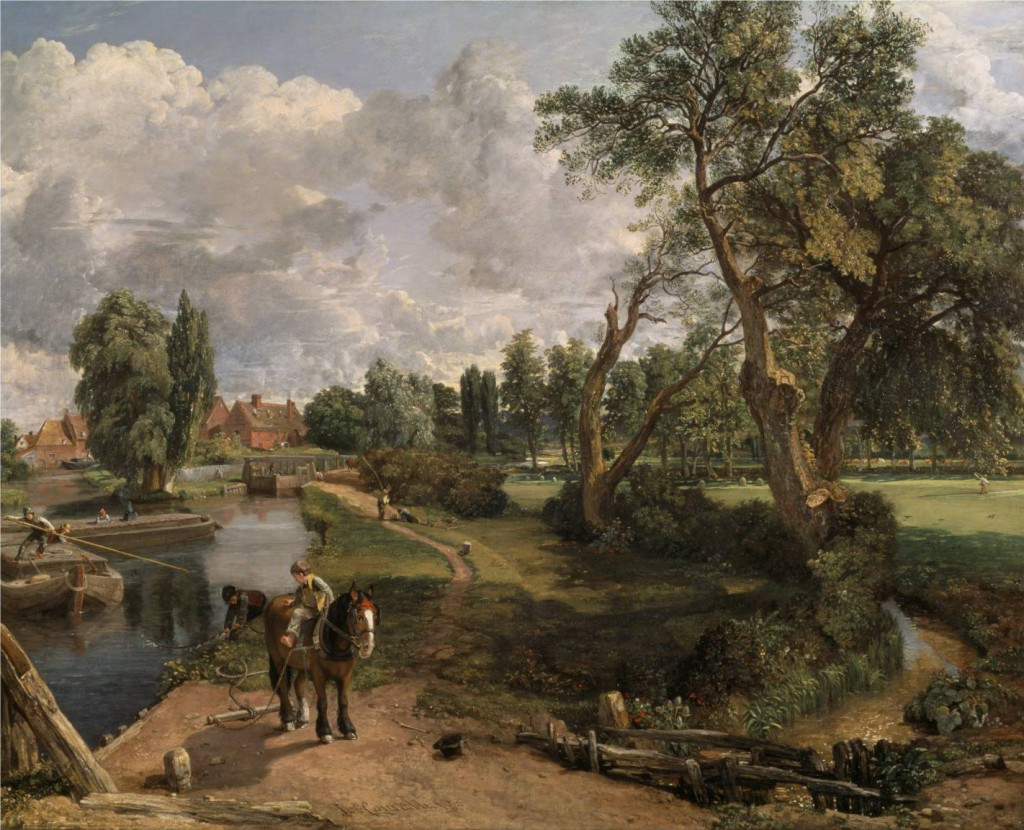 Flatford Mill ('Scene on a Navigable River') 1816-17 by John Constable 1776-1837