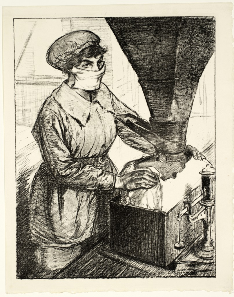 from The Great War: Britain's Efforts and Ideals, Women's Work: On Munitions - Dangerous Work (Packing T.N.T.)