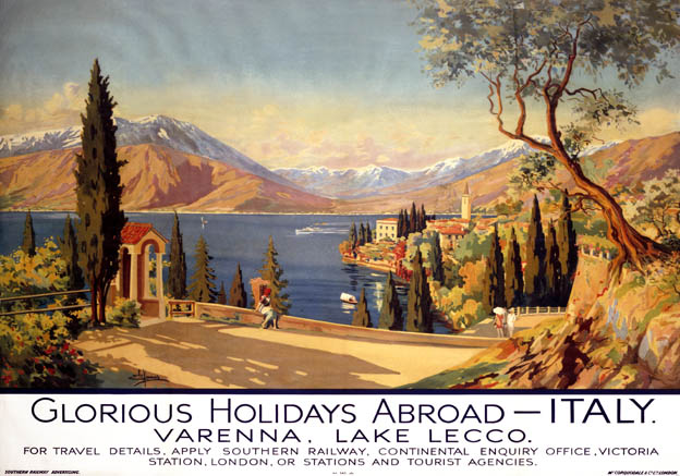 Southern Railway travel poster. Varenna, Italy