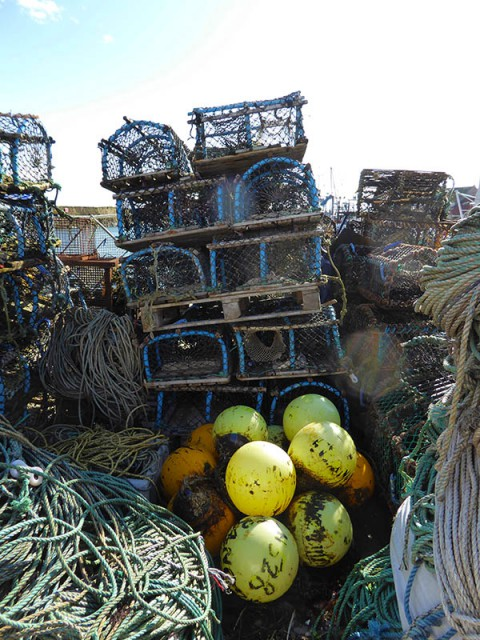 Floats & lobster pots in Pittenweem