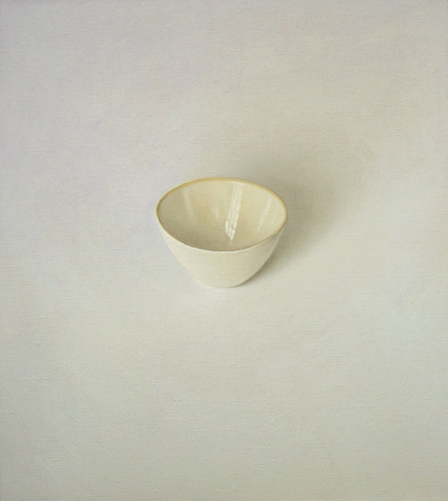David Stubbs 'White and cream' 45 x 20 cm 2012